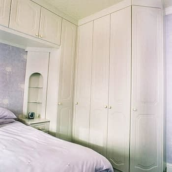 Fitted wardrobe with bedside units