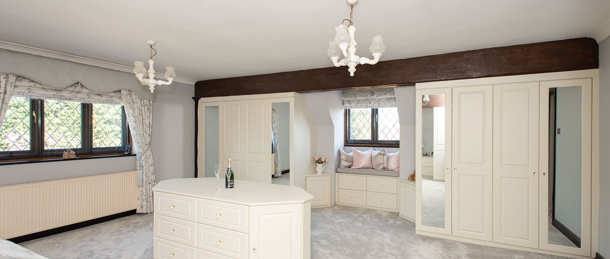 custom bedroom with central island