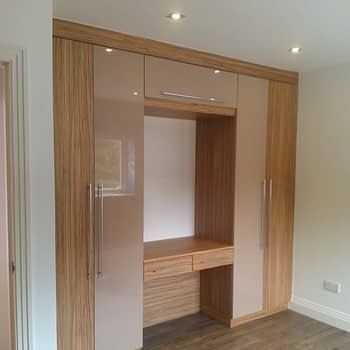 fitted wardrobe with knee hole