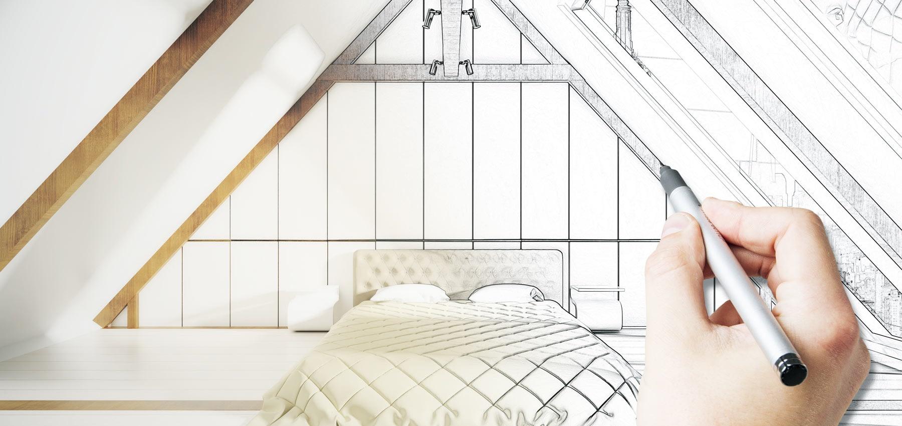 Bedroom sketch design