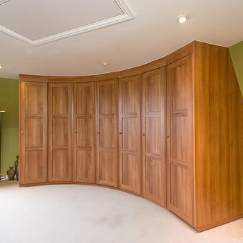Wardrobe installed in Oast House in Kent