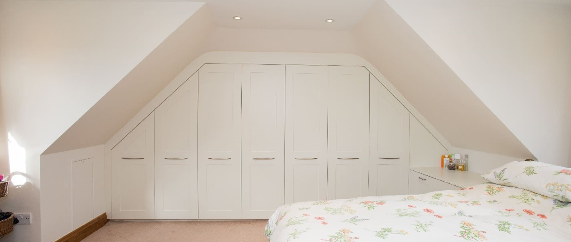 Fitted wardrobes in bedroom