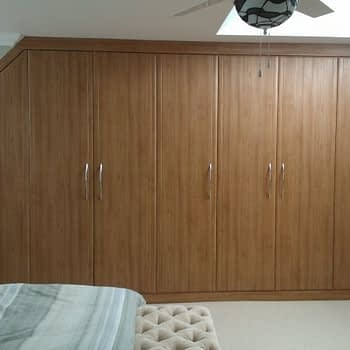 Fitted bedroom wardrobe for angled ceiling