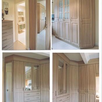 Bespoke bedroom furniture colour stilo walnut style beechcroft square
