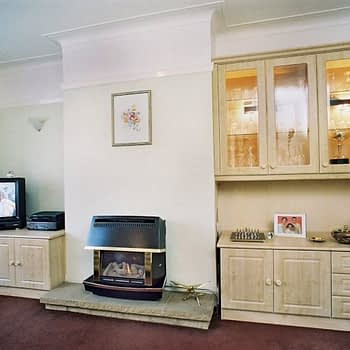 living room tv cabinet and display unit colour maple style square