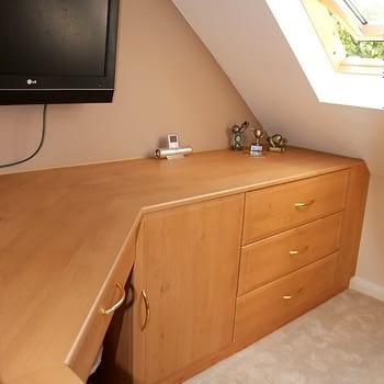 angled corner desk unit colour celtic birch style sherwood
