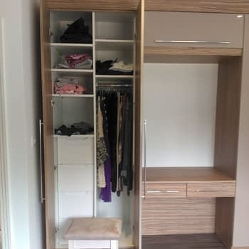 Wardrobe internals long hannging shelves and drawers